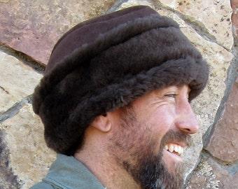 Mens Sheepskin Hat-Diplomat eca672023d3