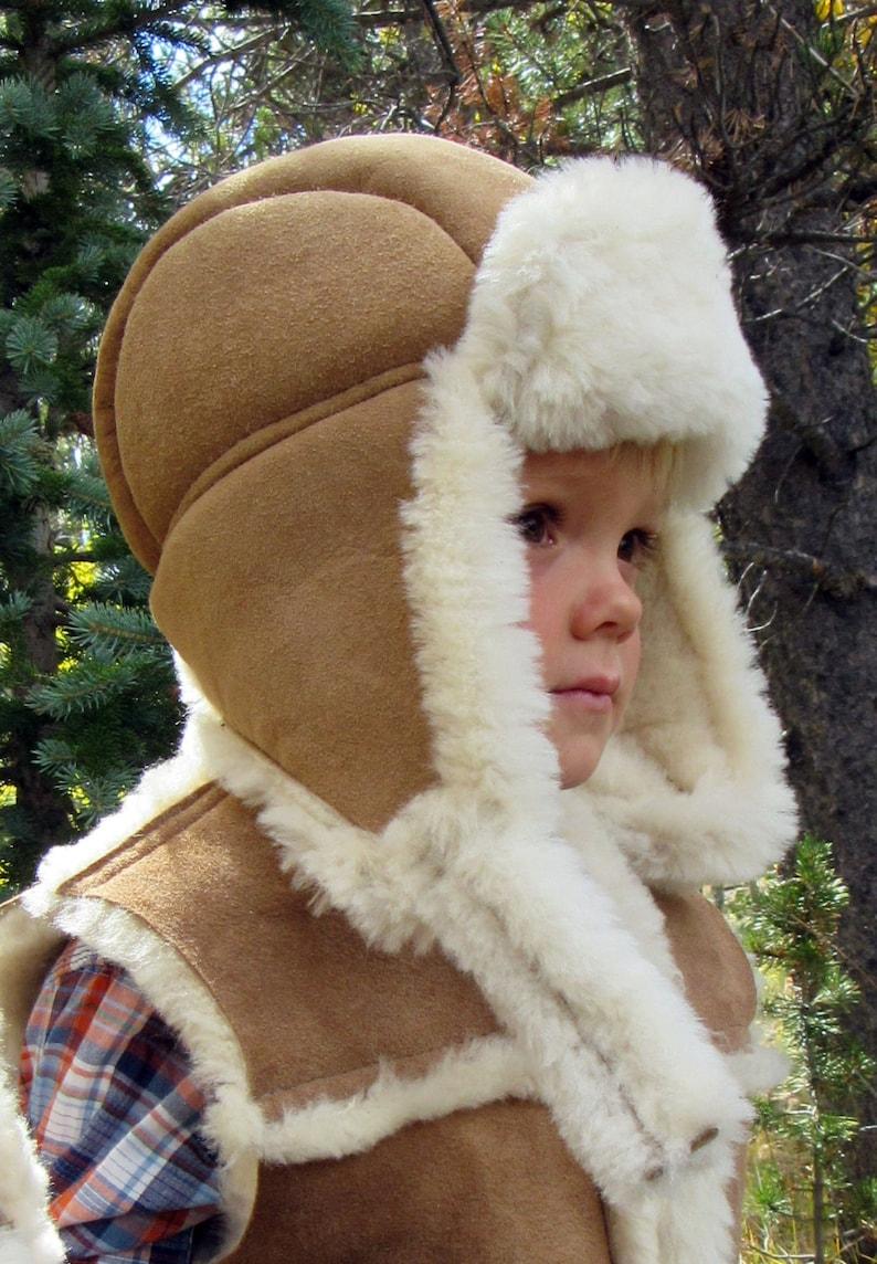 6555dac17fd63 Kids Sheepskin Aviator Hat