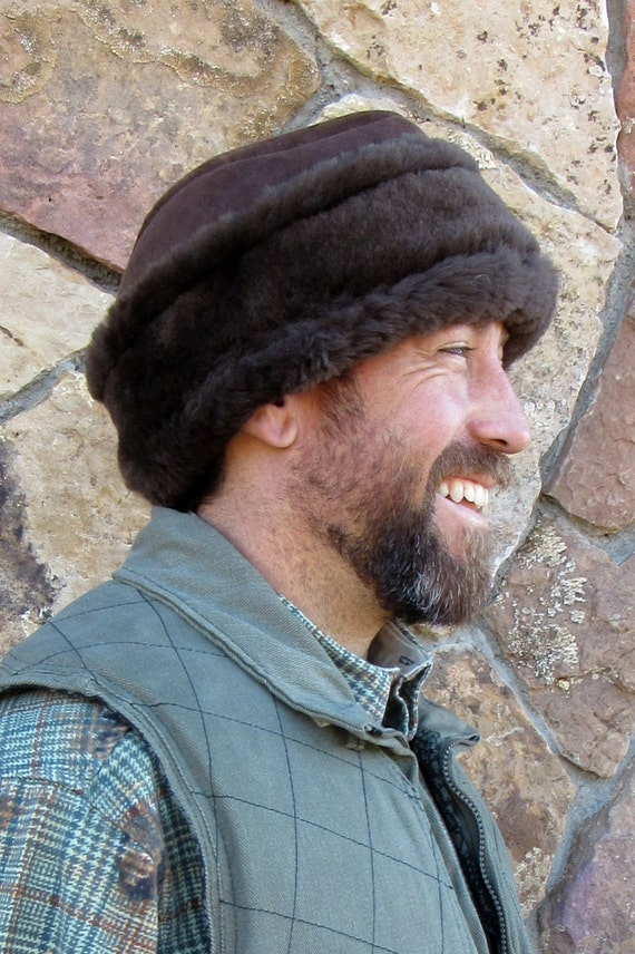 Mens Sheepskin Hat-Diplomat  6d5b9fd98ca