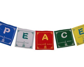 Blank Prayer Flags Set Of 10 Flags Etsy