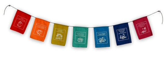 US SELLER-accessories prayer flag affirmation flags onTibetan inspiration quotes