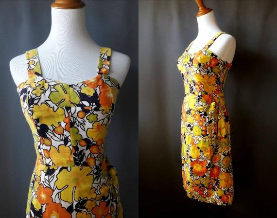 1962 sarong wiggle dress, alix of miami, small siz