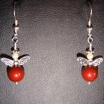 Swarovski Bead Angel Christmas Pierced Earrings