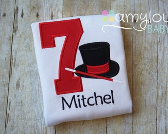 e8e5c1b01 Magician Birthday Toddler Tee Shirt - Magic Show - Wand - ANY AGE - Short  or Long Sleeves - Party - Pilot - Boy or Girl - Child
