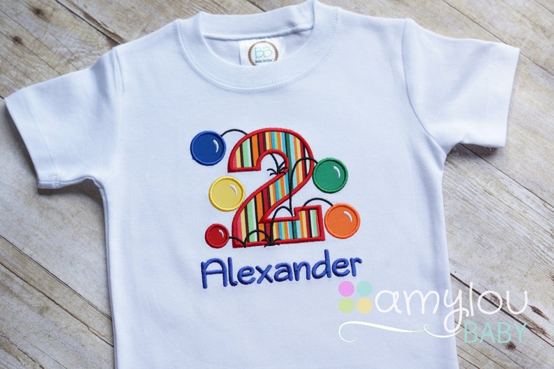 3bac8bb7e Bouncy Balls Any Age Colorful Personalized Birthday Tee | Etsy