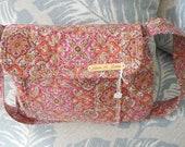 paisley bag pink quilted bag pleated designer bag shoulder bag