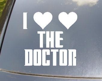 I Heart Heart The Doctor Car Sticker
