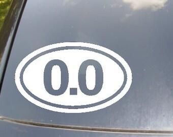 0.0 Marathon Car Sticker