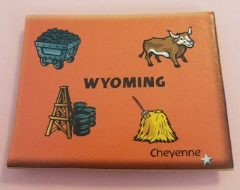 Wyoming Puzzle Piece Magnet