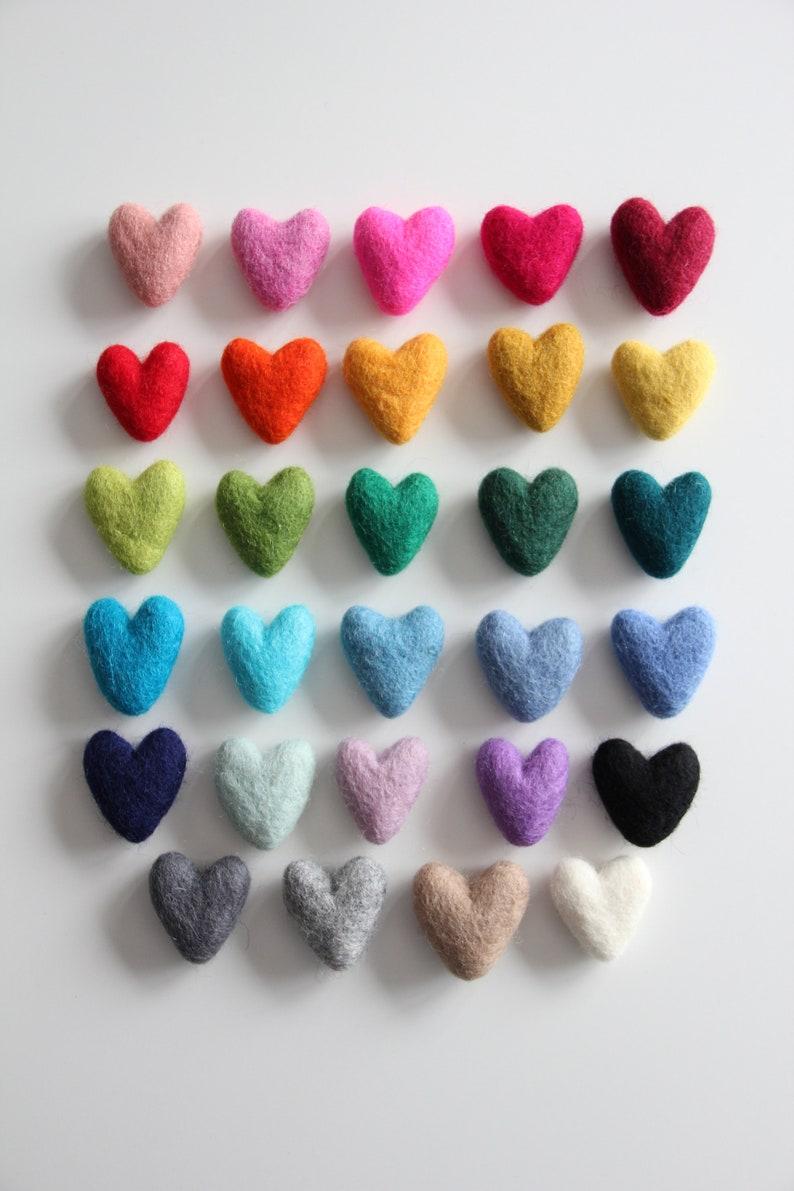 Felt Hearts 3-4cm Pick Your Colors