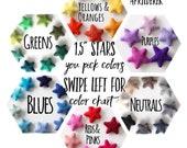Felt Stars- Wool Felt Stars- Pick Your Colors
