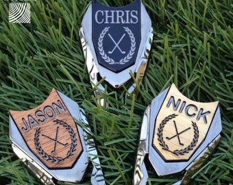Golf Ball Marker Personalized Divot Tool / Custom Engraved Sports Christmas Gifts for Men Dad Gift Man Groomsmen Father in Law Pitch Repair