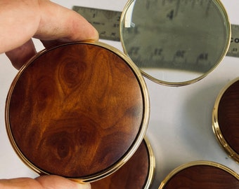 4 Magnifying Glasses CALIFORNIA REDWOOD Burl Portable Magnifying Reading Glass Paperweight gift for grandpa dad desktop office accessory