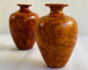 Amboyna Burl Lidded Vase Box Lathe Turned Amboyna Burl Wood Box Pet Wood Cremation Urn Keepsake Stash Box Hand Turned Boxes Birds Eye