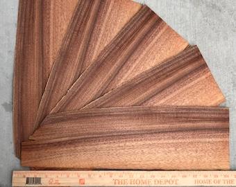Hawaiian Curly Koa Wood - 5 Pieces.  Hawaiian Curly Koa Wood Veneer, Bookmatch.  Hawaii Wood. Curly Koa, Koa Veneer, Scrapbooking
