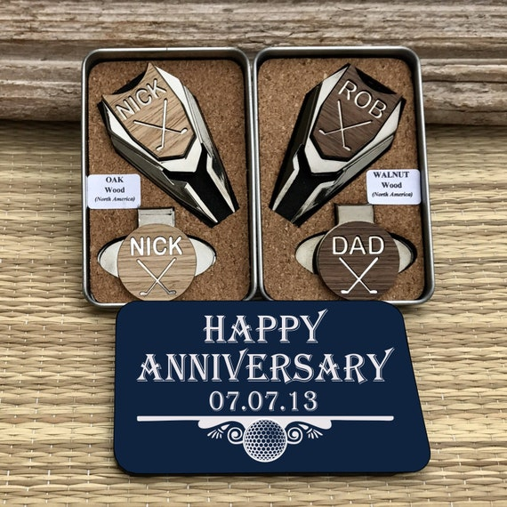 37bc05ae511 5th Anniversary Gift Personalized WOOD Golf Ball Marker Divot