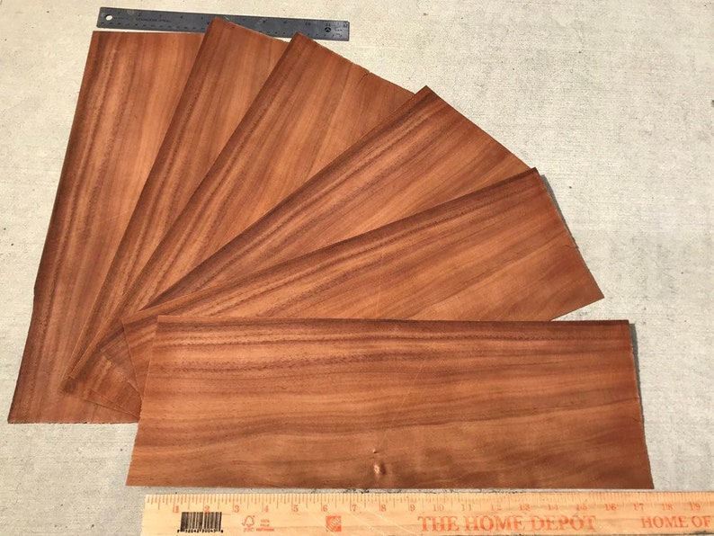 Hawaiian Curly Koa Wood 8 Pieces Hawaiian Curly Koa Wood Veneer Bookmatch Hawaii Wood Curly Koa Koa Veneer Scrapbooking