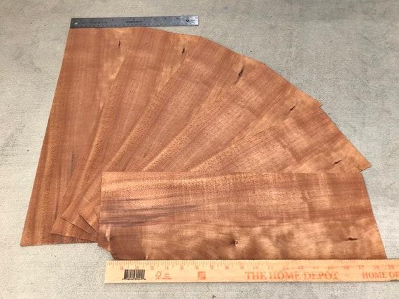Hawaiian Curly Koa Wood 6 Pieces Hawaiian Curly Koa Wood Veneer Bookmatch Hawaii Wood Curly Koa Koa Veneer Scrapbooking