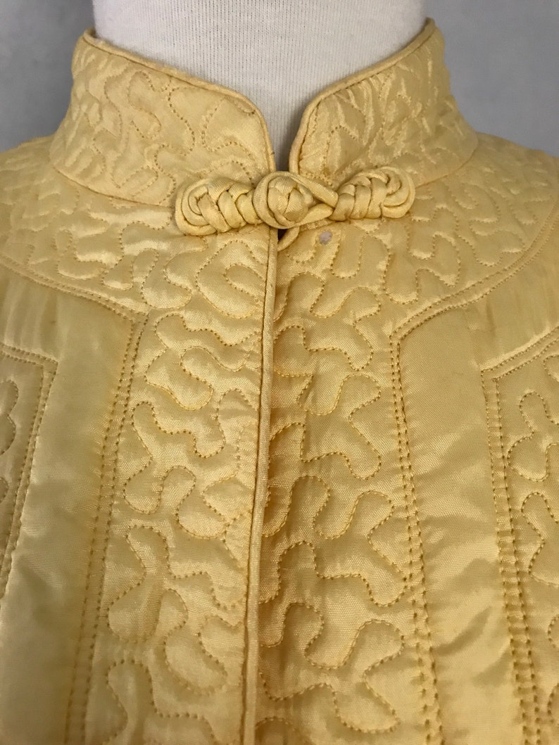 Quilted Chinese Robe with Koi Embroidery