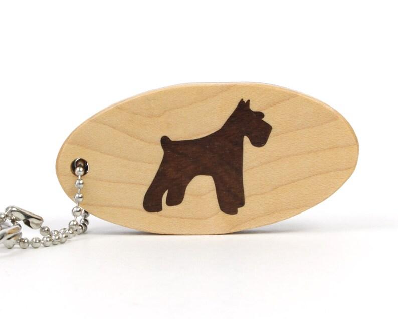 Schnauzer Dog Key Chain Wood Schnauzer Key Ring Pet Key Fob Etsy