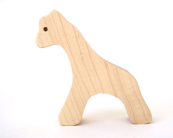 Simple Wooden Giraffe Waldorf Wood Toy Wild Zoo Animals Maple