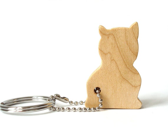 Keychain Silhouette Cat playng
