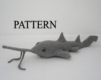 Saw Shark Crochet Pattern Sawfish Crochet Pattern Amigurumi Saw Shark Stuffed Shark Pattern Animal Crochet Pattern Digital Download
