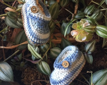 Crochet Keepsake Booties- made to order baby gift- naturally dyed- organic merino wool- leather soled owl baby booties