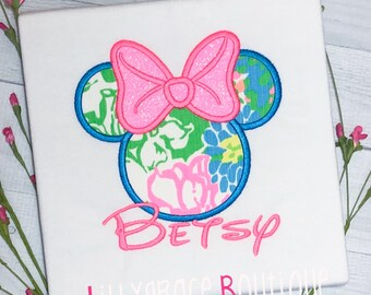 Lilly Pulitzer Mouse Applique Shirt