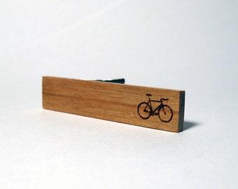 Wood Tie Clip, Bike