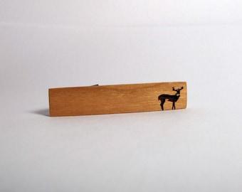 Wood Tie Clip, Buck Body