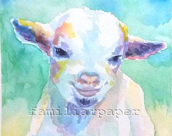 Baby Goat, Kid - Print of Original Watercolor Painting