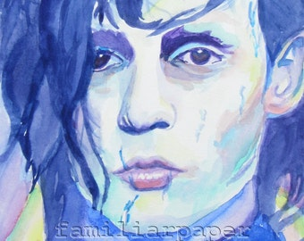 Edward Scissorhands: Print of Original Watercolor Painting
