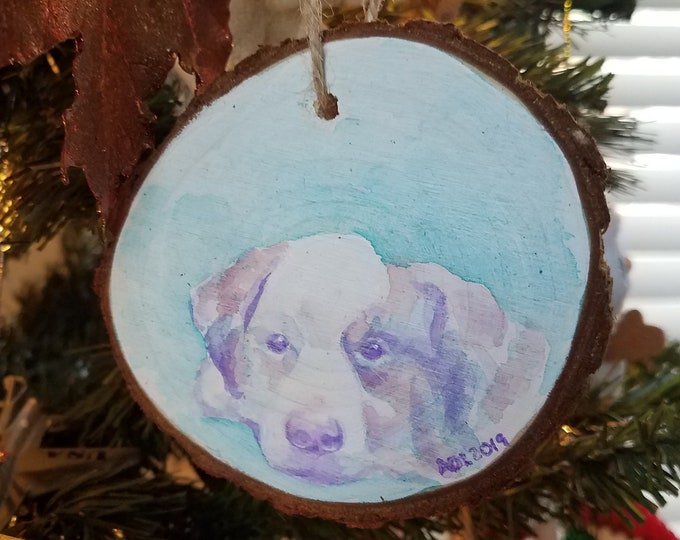 Featured listing image: Hand Painted Pet Portrait Ornament