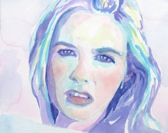 Clueless Cher Horowitz Alicia Silverstone: Print of Original Watercolor Painting