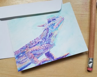 Horned Frog Note Cards: Set of Four
