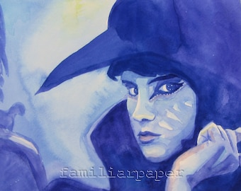 Moonrise Kingdom Raven Suzy: Print of Original Watercolor Painting