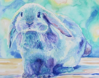 Bunny Rabbit: Print of Original Watercolor Painting
