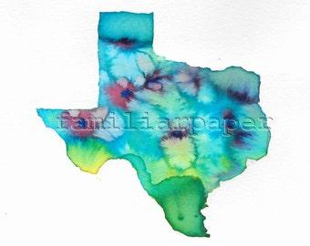 Texas Wildflowers - 8x8 Print of Original Watercolor Painting