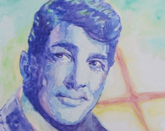 Dean Martin Watercolor Print 8x10