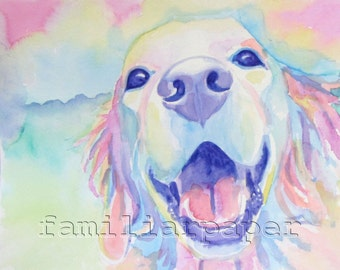 Golden Retriever: Print of Original Watercolor Painting