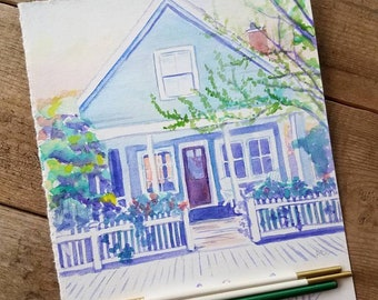 Custom Watercolor Painting of Home, Business, or Scene