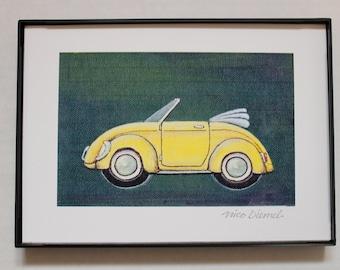 VW bug, Vw Bug Conv, VW yellow bug, Convertible, vw hippie bug, Volkswagen Bug, Volkswagen, Cabriolet VW, Covertable vw, Nico Diemel