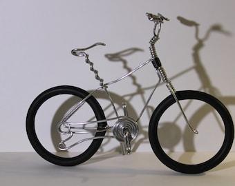 Bicycle Art, Wire Art, Wire bicycle, Small bike, Miniature bicycle, Metal bicycle, Fat Bike, Wire Bike, Bicycle, Aluminum Bike, Nico Diemel