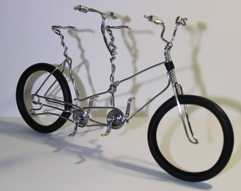 Bicycle Art, Wire Art, Wire bicycle, Small bike, Miniature bicycle, Metal bicycle, Tandem Bike, Wire Bike, Bicycle, Aluminum Bike, Diemel