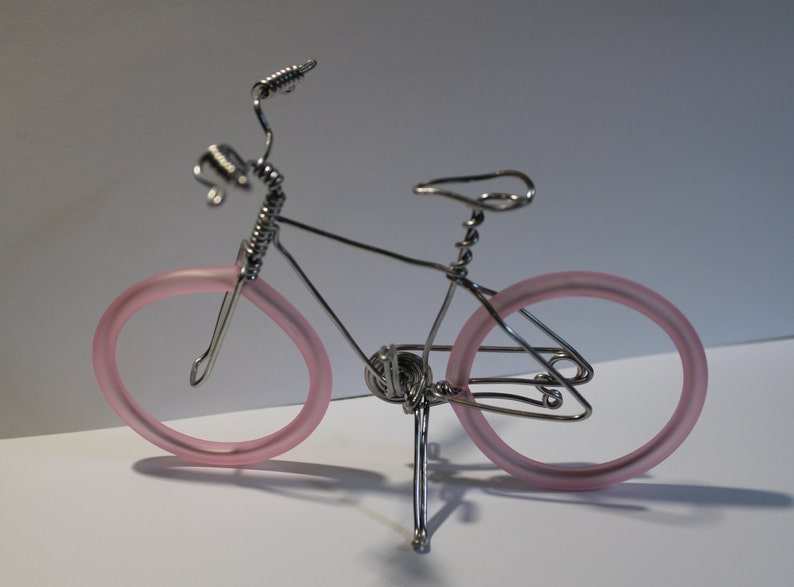 Bicycle Art Wire Art Wire bicycle Small bike Miniature image 0
