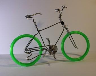 Bicycle Art, Wire Art, Wire bicycle, Small bike, Miniature bicycle, Metal bicycle, Dirt Bike, Wire Bike, Bicycle, Aluminum Bike, Nico Diemel