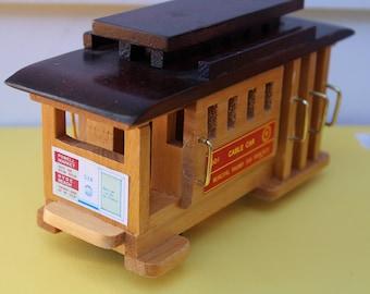 Small Wooden SF Cable Car replica.