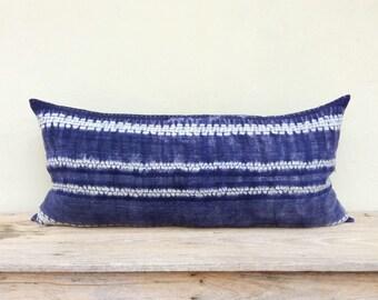 HMONG PILLOW LUMBAR, 16' x 32' Hmong, Hemp Fabric, Vintage Textile, Handmade Textile, Hmong Pillow, Boho Pillow, Farmhouse Decor, Bohemian