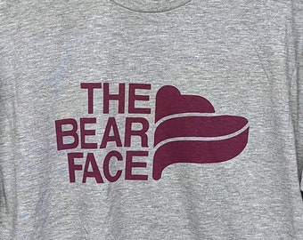 The Bear Face - Burgundy on Athletic Heather - BRFC - The North Face